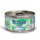 Monge 意大利狗罐頭 鮮味肉絲系列 雞肉+蔬菜 95G x 24