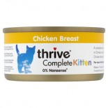 THRIVE 整全膳食100% 雞肉幼貓罐頭 75G x 12罐原箱優惠