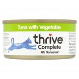 THRIVE 整全膳食100% 吞拿魚+蔬菜貓罐頭 75G x 12罐原箱優惠