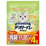 日本 Unicharm 消臭大師 滲透式沸石貓砂 4L x 4包原箱優惠