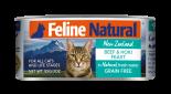 F9 FELINE NATURAL 牛肉及藍尖尾鱈魚 主食貓罐頭 85G