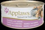 Applaws 愛普士 - 貓罐頭 156g - 沙甸魚+鯖魚 x 24