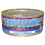 Natural Balance雪山室內去毛球配方貓罐頭 5.5oz