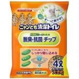 日本花王Kao 脫臭抗菌滲透式木貓砂 (大粒- 雙層貓砂盆專用) 4L x 4