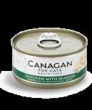 Canagan 貓用無穀物雞肉+大鱸魚配方罐頭 75g