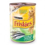 Friskies Sardine,Shrimp & Squid Cat Can Food 喜躍沙甸魚,墨魚 蝦貓罐頭 400g x 24