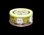Petsgoal X 忌廉哥 吞拿魚及白飯魚 貓罐頭 70g