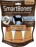 SmartBones - 花生醬味大型large潔齒骨 (3條)