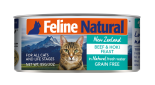 F9 FELINE NATURAL 牛肉及藍尖尾鱈魚 主食貓罐頭 170G X 24罐優惠
