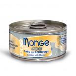 Monge 意大利狗罐頭 鮮味肉絲系列 雞肉+芝士 95G