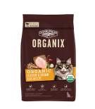 ORGANIX® 穀物全貓糧 – 有機雞肉糙米配方 3lb (NEW)