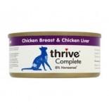 THRIVE 整全膳食100% 雞肉+雞肝貓罐頭 75G x 12罐原箱優惠