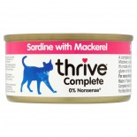 THRIVE 整全膳食100% 沙甸魚+鯖魚貓罐頭 75G x 12罐原箱優惠